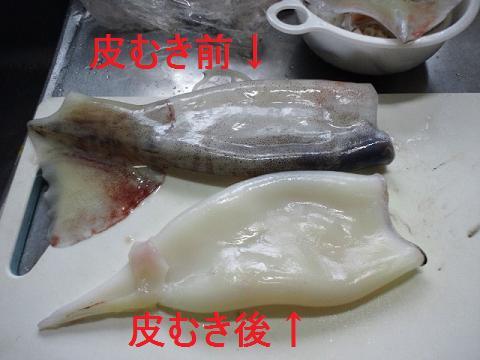 夕飯@イカ刺し 003