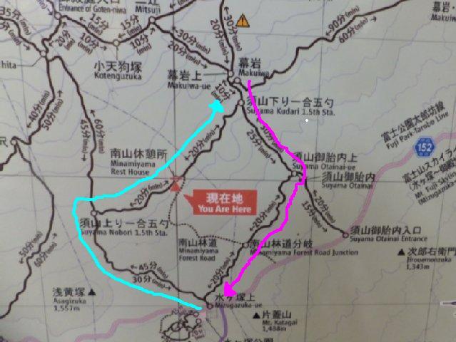 幕岩 地図