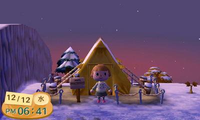 絶壁テント