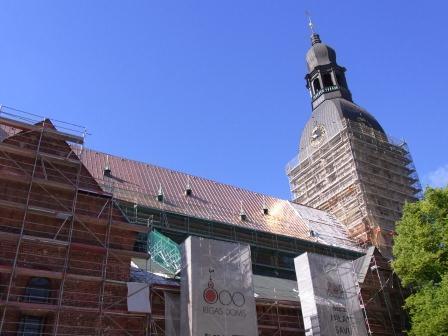 リガ大聖堂 修復工事中