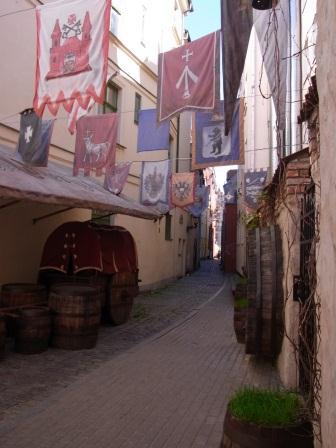 リガ旧市街 一番細い道