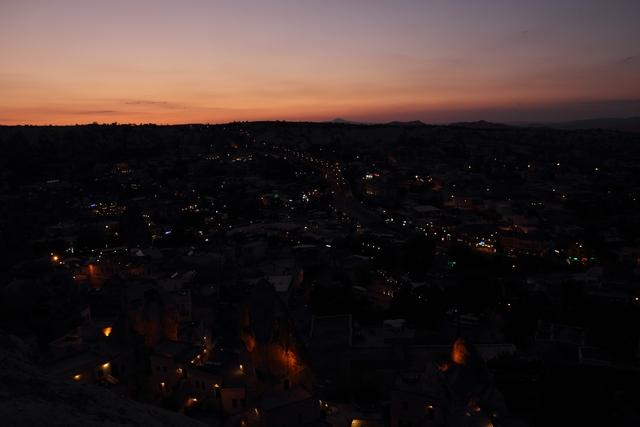 ギョレメの夕焼け+夜景