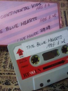 blue hearts live tape