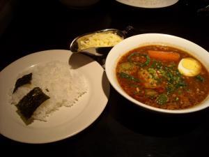 スープカレー心納豆とオクラ1
