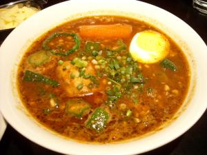スープカレー心納豆とオクラ2
