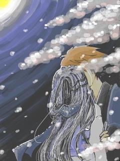 リクつら「雪桜」