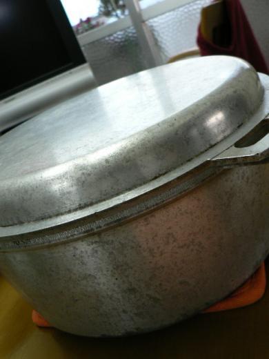 無水鍋でガス火炊きしたご飯