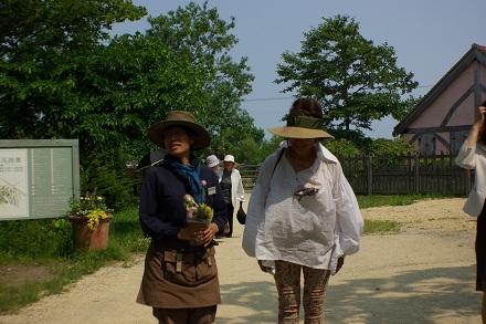 吉谷さんと庭師さん。