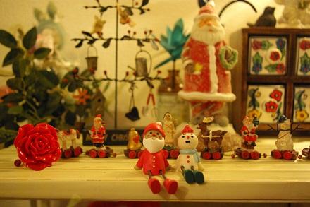 サンタさんと雪だるま♪