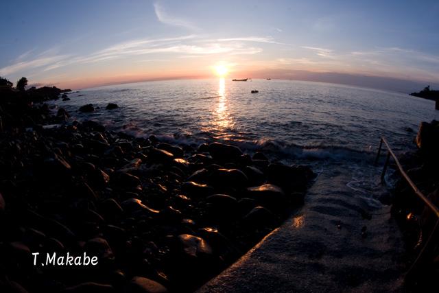 富戸港の朝陽朝日