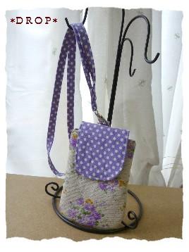 ナチュラル デジカメ携帯ケース 紫花