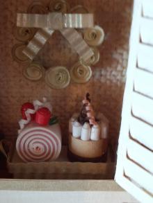 クリスマス窓ケーキアップ