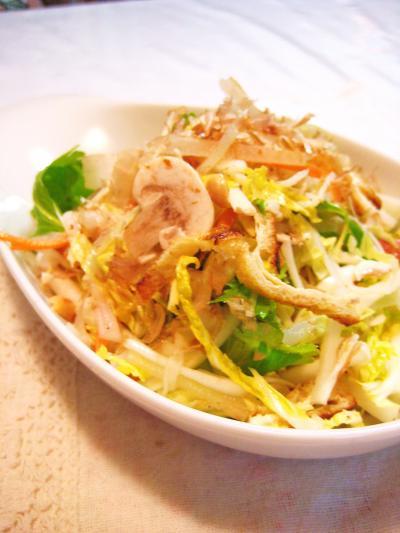 白菜と根菜の生サラダ