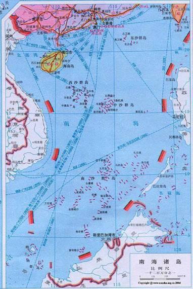"""101379585中國政府正式表明南海是關係到中國領土完整的""""核心利益""""。"""