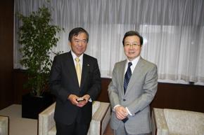 程永華駐日大使が島田昌幸テレビ東京社長を表敬訪問