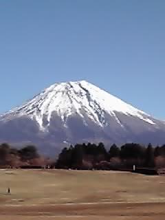 アリーナからの富士山