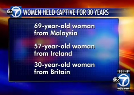 Women freed after 30 years of captivity in London