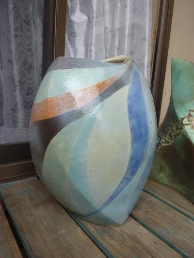 九月の陶芸教室・先生の作品