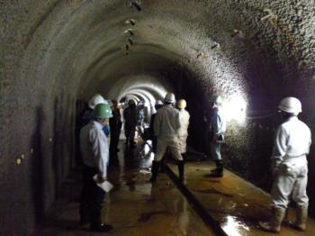 集水トンネル内部(22.10.4)