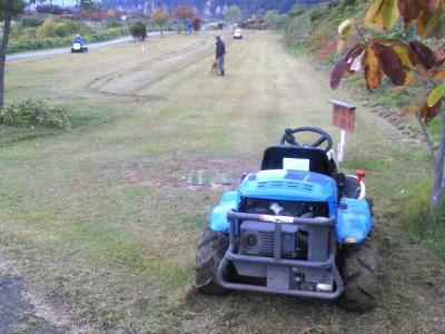 マレットゴルフ場を草刈り(24.10.28)