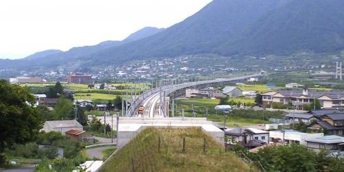 長丘トンネルから高社山トンネルを望む(24.11.5)