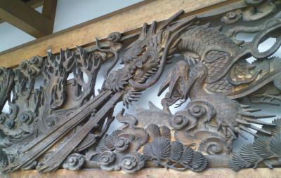木彫り龍の欄間(24.11.7)