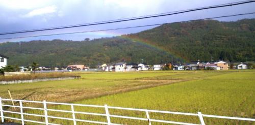 バスの車窓から虹(24.11.7)