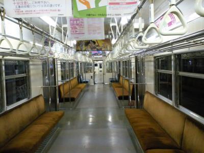 普通列車で夜間瀬駅へ(24.11.12)