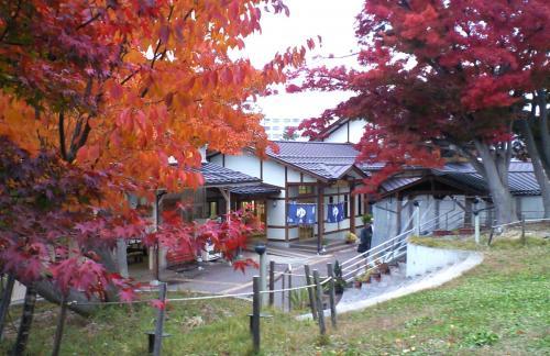 紅葉が見頃「楓の湯」(24.11.12)
