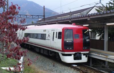 湯田中駅のスノーモンキー号(24.11.12)