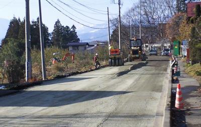 工事中だった県道(24.12.7)