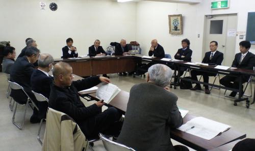 消防団幹部と議会懇談会(24.12.13)