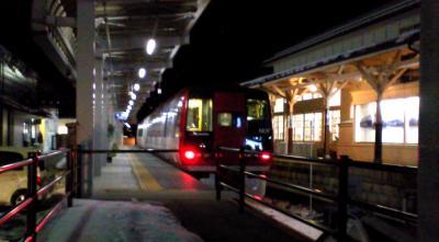 湯田中駅のスノーモンキー号(24.12.14)