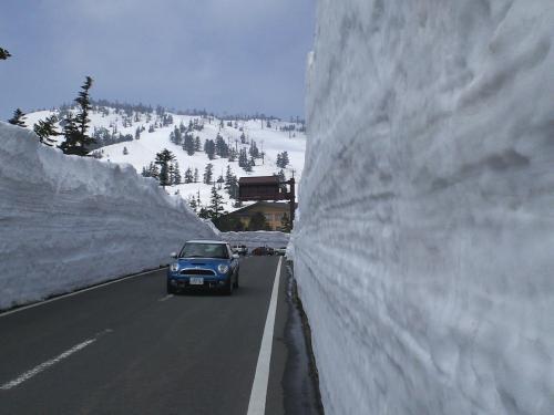 渋峠雪の回廊きょう開通(24.4.25)