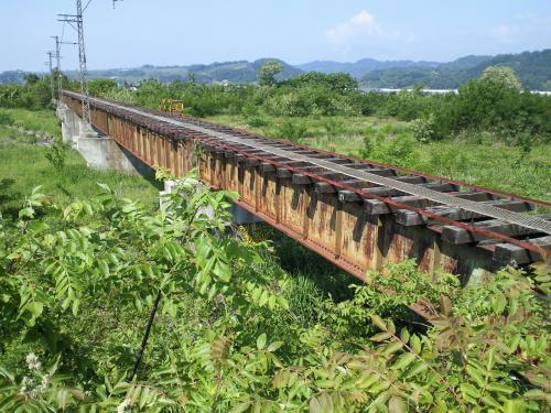 旧木島線夜間瀬川鉄橋(24.6.4)