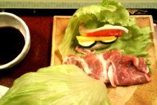 みゆきポークと夏野菜の鉄板焼き(24.7.29)