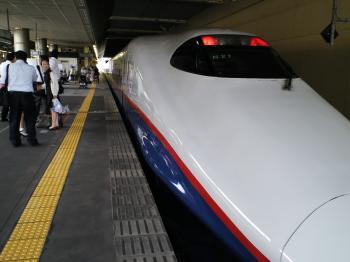 長野新幹線で東京へ(24.7.30)