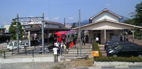 終点湯田中駅(24.9.8)