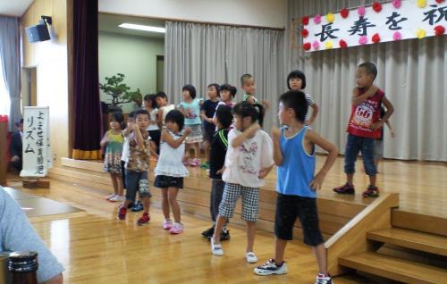 よませ保育園児のリズムダンス(24.9.9)