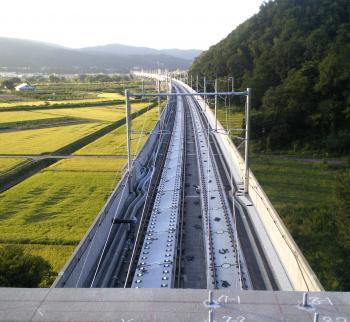 岩井のトンネルから飯山方向を望む(24・9・10)
