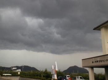 怪しい雲が・・・(24.9.11)