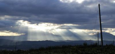北信五岳に光のカーテン(24.9.28)