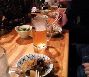 反省会で生ビール(24.10.7)