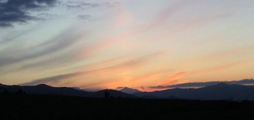 津南町からの夕焼け(24.10.8)