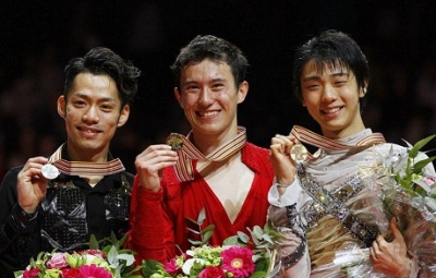世界フィギュア男子表彰台