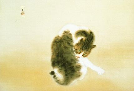 竹内栖鳳『斑猫』
