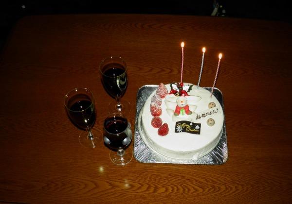 クリスマスと結婚祝いのケーキ