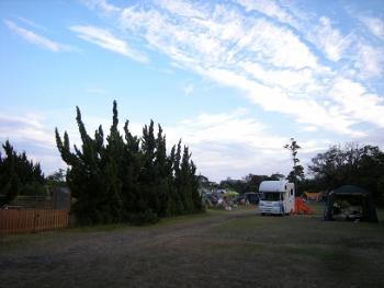 キャンプ場だ