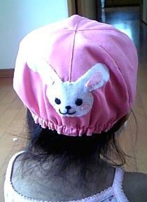 ウサギ帽子