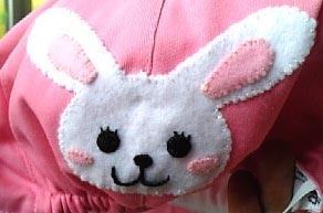 ウサギ帽子up